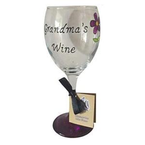 Purple Grandma's Wine Glass