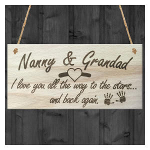 Wooden Hanging Grandparents Sign