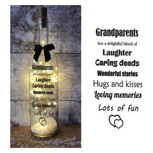 Grandparents Light Up Wine Bottle