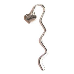 Granny Heart Charm Bookmark