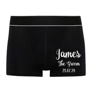 Personalised Wedding Day Boxers