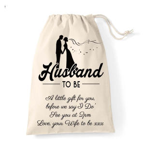 Personalised Husband To Be Cotton Bag