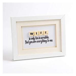 Handmade Scrabble Letter Wife Print