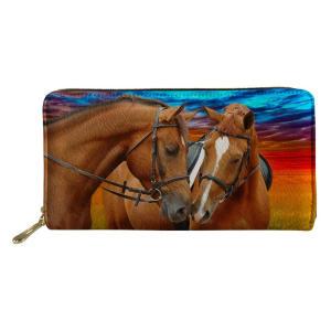 Horse Print Long Wallet
