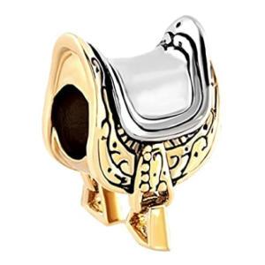 Horse Saddle Charm Bead