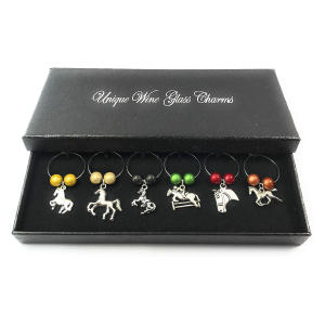 Horse Lovers Wine Glass Charms