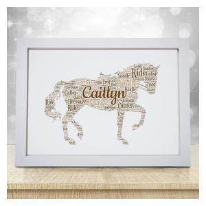 Personalised Equestrian Word Art Print