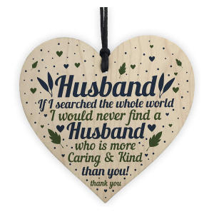 Husband Wooden Heart Plaque