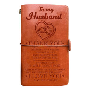 To My Husband Leather Journal
