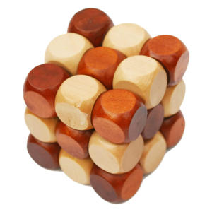 Wooden Twist Cube IQ Puzzle