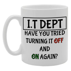 Novelty IT Department Mug