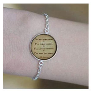 Introvert Quote Bracelet
