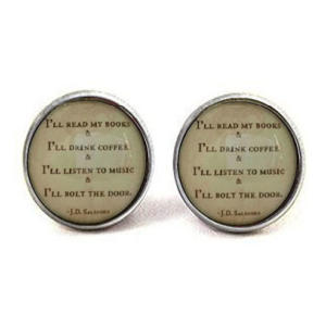 Introvert Quote Cufflinks