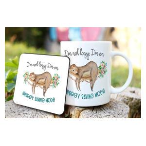 Introvert Sloth Mug and Coaster