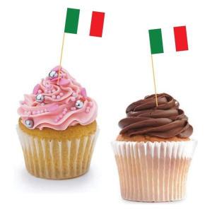 Italian Cupcake Flags