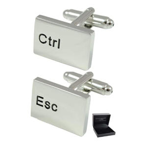 Ctrl Esc Keyboard Cufflinks
