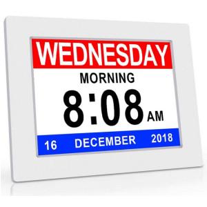 Digital Day Clock Large Calendar