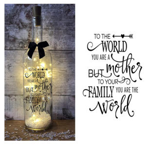 Light Up Glass Wine Bottle