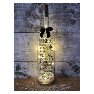 Friends Wine Bottle Light