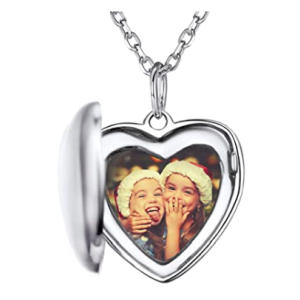 Lockets Necklace with Photo & Text