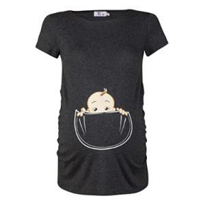 Baby in Pocket Print T-Shirt