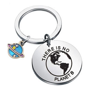 There is No Planet B Keychain