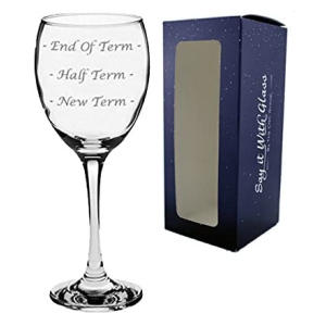 Novelty Engraved Wine Glass Teacher