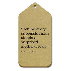 Voltaire Quote Wooden Gift Tags