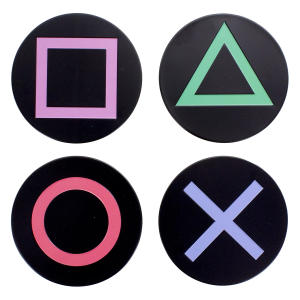 Playstation Metal Icons Coasters