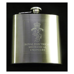 Engineers Engraved Flask