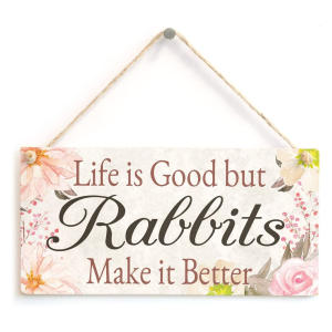 Gift Sign For Rabbit Lovers