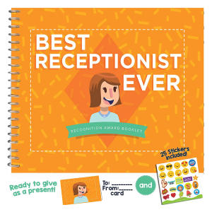 Best Receptionist Ever Recognition Award Booklet