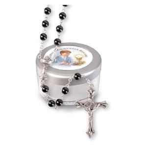Imitation Hematite Rosary Beads