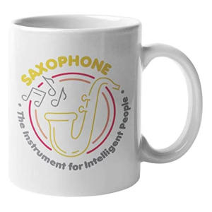 Saxophone, The Instrument for Intelligent People Mug