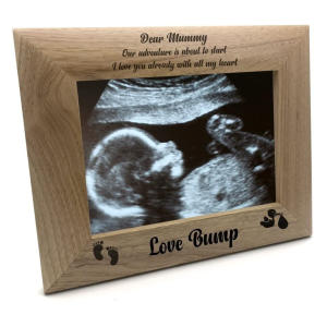 Pregnancy Scan Wooden Photo Frame
