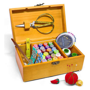 Sewing Basket with Kit Accessories