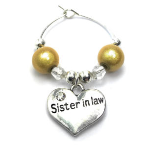 Sister in Law Wine Glass Charm
