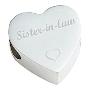 Sister in Law Heart Charm