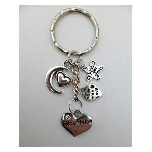 Sister in Law Heart Keyring Charm