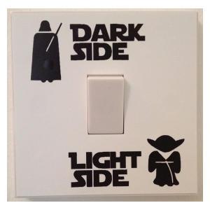 Star Wars Dark Light Side Light Switch Sticker