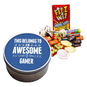 This Belongs to an Awesome Gamer Retro Sweet Tin