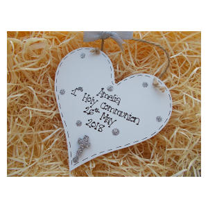 Personalised Wooden Heart Sign