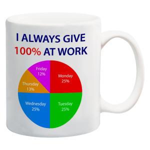 100% at Work Mug
