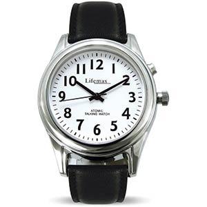 Leather Strap Talking Atomic Watch
