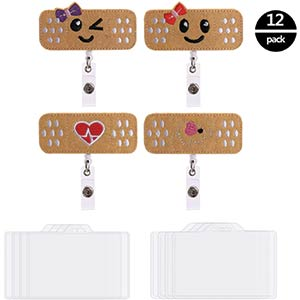 4-Pack Nurse Retractable Badge Reels