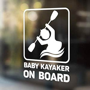 New Baby Kayaker on Board Sticker