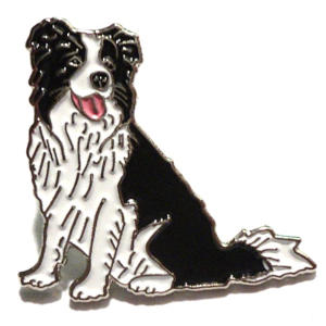 Border Collie Sheepdog Badge