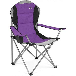 Padded High Back Folding Camping Chair
