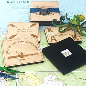 Kayak Coasters Gift