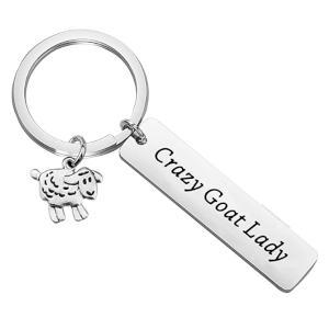 Crazy Goat Lady Keyring